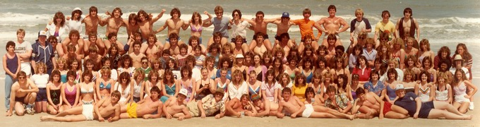 When we were young.... Fermi Class Trip to Daytona Beach Florida